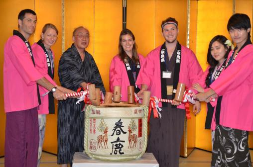 Opening Sake With The Governor