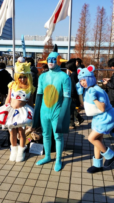 Togepi, Marshtomp and Marill from Pokemon