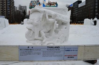 Thailand's Tuk-Tuk Made Of Snow